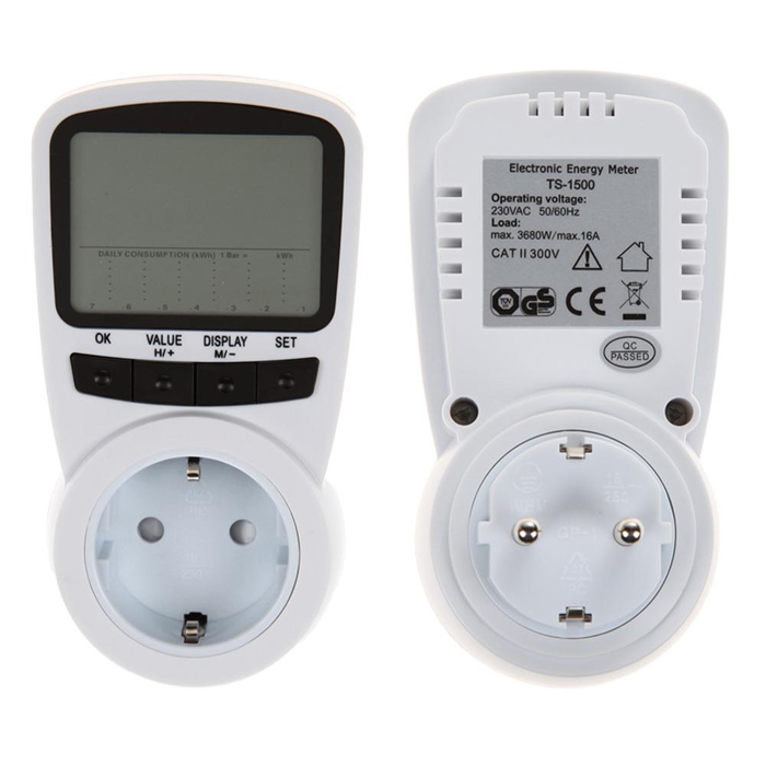 TS-1500 Professional Digital LCD Electric Power Energy Meter Voltage ...