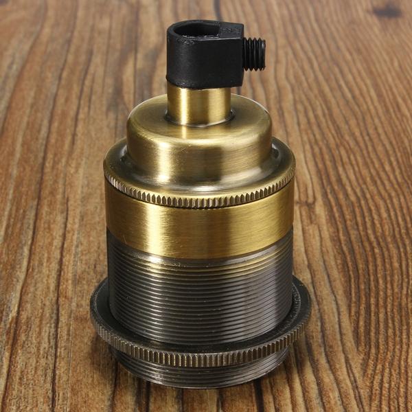 E27 E26 Base Vintage Edison Thread Lamp Bulb Pendant Light