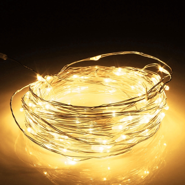 10M LED Silver Wire Fairy String Light Christmas Xmas Wedding Party Lamp 12V