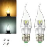 E27 E14 E12 B22 B15 6W 25 SMD 2835 LED Pure White Warm White Filament Light Lamp Bulb AC85-265V