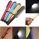 3W LED COB Pocket Pen Clip Light Work Inspection Lamp Magnetic Torch Flashlight