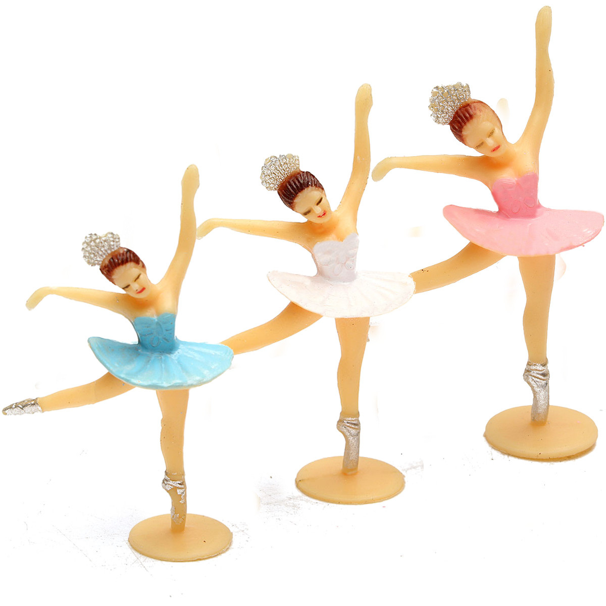ballerina cake topper 12pcs mini christening favor baby shower gift 1463