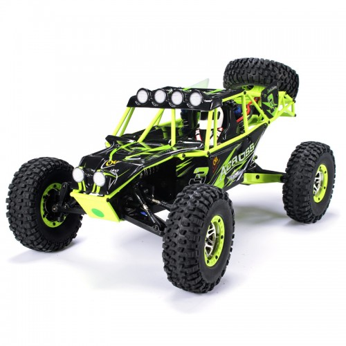 WLtoys 10428 1/10 2.4G 4WD RC Monster Crawler RC Car with LED Light