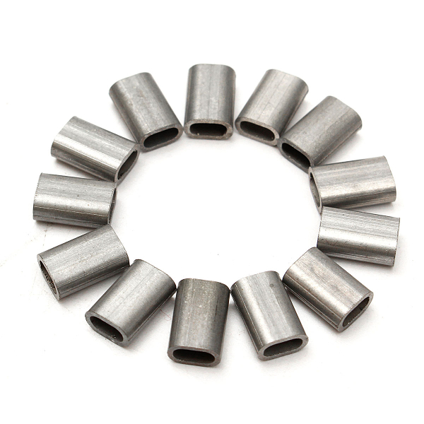 50Pcs 304 Stainless Steel Cable Crimp Sleeve Ferrule for Wire Rope ...