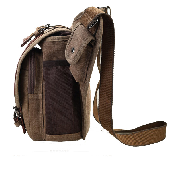 Men Canvas Retro Canvas Travel Cycling Crossbody Bag Chest Bag ...