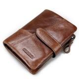Genuine Leather Wallet Vintage Standstone Men Wallets Male Purse Coin Bag