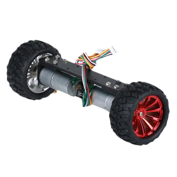DIY JGA25-360 12V 1.25W Two Wheel Self Balancing Smart Robot Car Metal Frame Chassis Kit