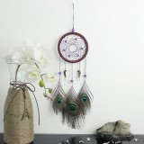 Natural Hand-woven Feathers Dreamcatcher American Folk-custom Gifts Home Car Hanging Decor Ornament