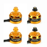 4X Racerstar Racing Edition 2205 BR2205 2600KV 2-4S Brushless Motor Yellow For 210 X220 250 280