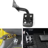 Black Metal Left Side Foot Rest Pedal for Jeep Wrangler JK & Unlimited 07-16