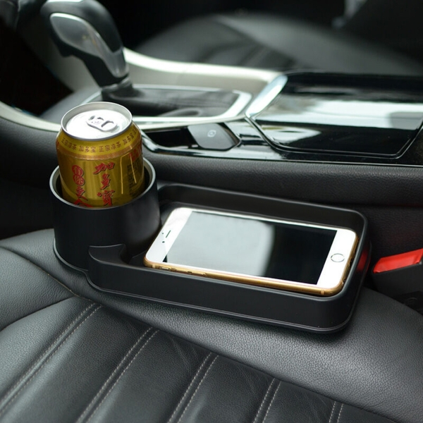 Portable Multifunction Vehicle Car Cup Holder Cell Phone Holder Drinks  Holder Glove Box Car Accessories (Black)