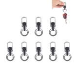 8PCS Car Metal Key Holder With Two Rings (Black)
