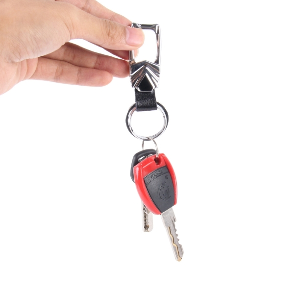 8PCS Car Metal Key Holder With Two Rings (Black)