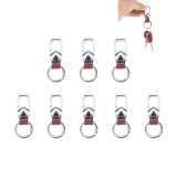 8PCS Car Metal Key Holder With Two Rings (Brown)