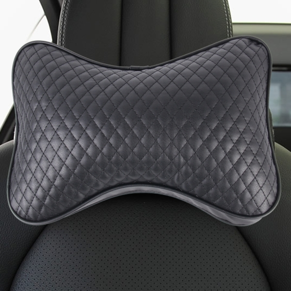 2PCS BIETY Car Neck Pillow (Soft Version) Lovely Breathe Car Auto Head Neck Rest Cushion Headrest Pillow Pad (Black)
