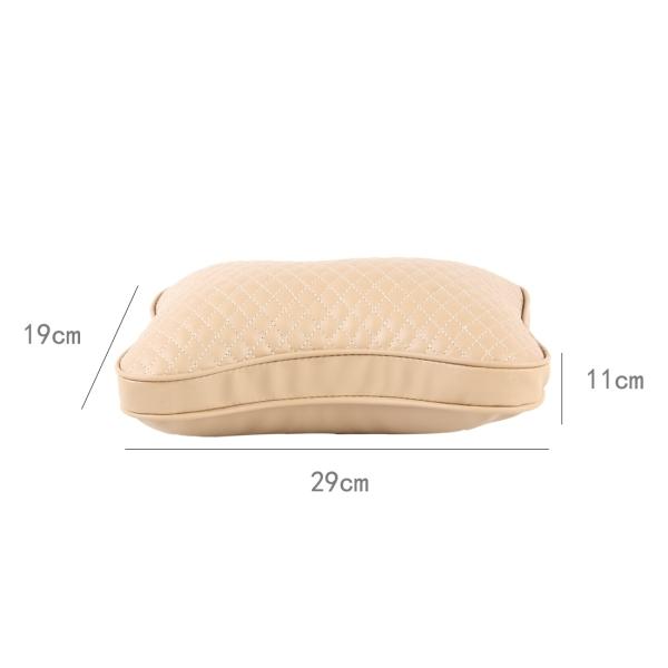 2PCS BIETY Car Neck Pillow (Soft Version) Lovely Breathe Car Auto Head Neck Rest Cushion Headrest Pillow Pad (Khaki)