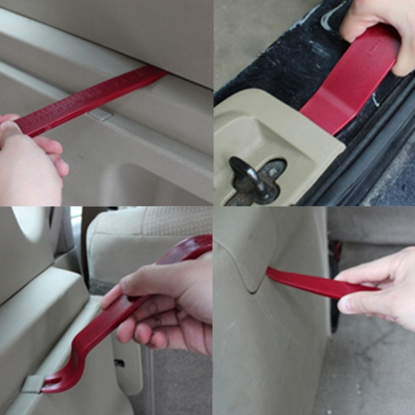 4PCS Car Door Clip Panel Audio Video Dashboard Dismantle Kits Installer Pry Tool