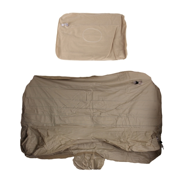 Car Travel Inflatable Mattress Air Bed Camping Universal SUV Back Seat Couch With Protection Air Cushion (Khaki)