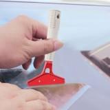 Pure Metal Blade Car Window Film Scraper Cleaner Tool Car Window Sun Visor Film Installation Tint Tool With Cover