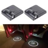 2PCS LED Ghost Shadow Light, Car Door LED Laser Welcome Decorative Light, Display Toyota Car Brand Logo (Black)