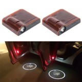 2PCS LED Ghost Shadow Light, Car Door LED Laser Welcome Decorative Light, Display Toyota Car Brand Logo (Red)