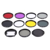 JUNESTAR 11 in 1 Proffesional 52mm Lens Filter (CPL + UV + ND8 + ND4 + ND2 + Star 8 + Red + Yellow + FLD / Purple) & Waterproof Housing Case Adapter Ring & Lens Protective Cap for GoPro HERO4 / 3+ / 3 & Xiaomi Xiaoyi Yi I / II 4K Sport Action Camera