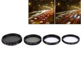 JUNESTAR 4 in 1 Proffesional 37mm Lens Filter (CPL + UV + ND2-400 + Star 8) for GoPro & Xiaomi Xiaoyi Yi Sport Action Camera