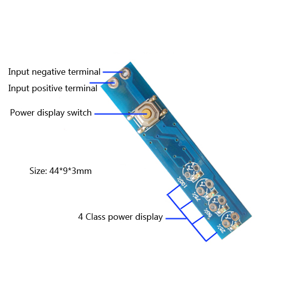 2S 3S 4S 5S Lipo Battery Voltage Display Indicator Board Polymer Power  Indicator Panel