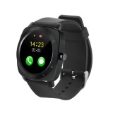 X5 1.33 inch Full IPS Capacitive Round Touch Screen Bluetooth 3.0 Silicone Strap Smart Watch Phone With Micro SIM Card Slot for All Android Smartphones, Support FM Radio / Pedometer / Remote Camera / Sleep Monitoring / Sedentary Reminder / Security Anti-loss Function, etc (Black)