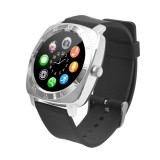 X5 1.33 inch Full IPS Capacitive Round Touch Screen Bluetooth 3.0 Silicone Strap Smart Watch Phone With Micro SIM Card Slot for All Android Smartphones, Support FM Radio / Pedometer / Remote Camera / Sleep Monitoring / Sedentary Reminder / Security Anti-loss Function, etc (Silver)