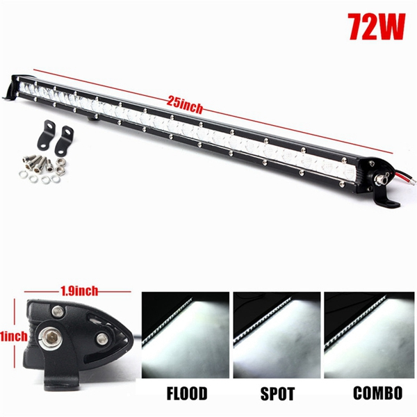 25inch 57W LED Work Light Bar Spot Flood Combo Beam Lamp For Driving Offroad SUV ATV Truck