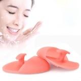 3 PCS Kean Silicone Makeup Brush Anti-slip Blackhead Remover Cleansing Friction Pad Face Skin Brush (Pink)