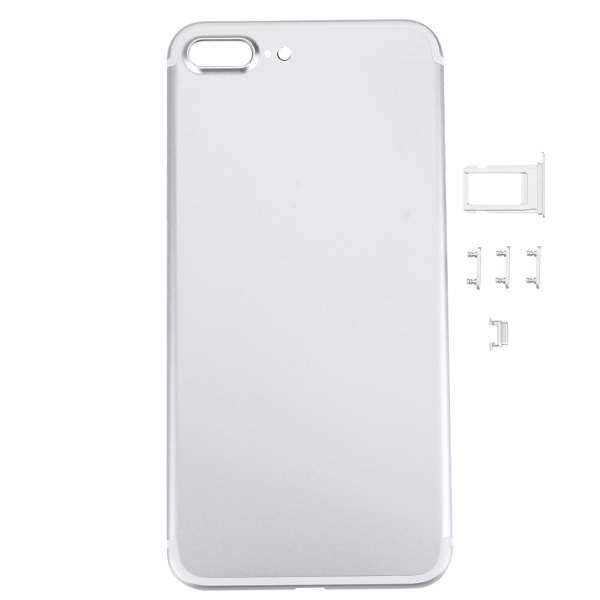 online retailer 578f8 e2e63 Replacement 5 in 1 for iPhone 7 Plus (Back Cover + Card Tray + Volume  Control Key + Power Button + Mute Switch Vibrator Key) Full Assembly  Housing ...