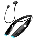ZEALOT H1 High Quality Stereo HiFi Wireless Neck Sports Bluetooth 4.1 Earphone In-ear Headphone with Microphone for iPhone & Android Smart Phones or Other Bluetooth Audio Devices, Support Multi-point Hands-free Calls, Bluetooth Distance: 10m (Black)