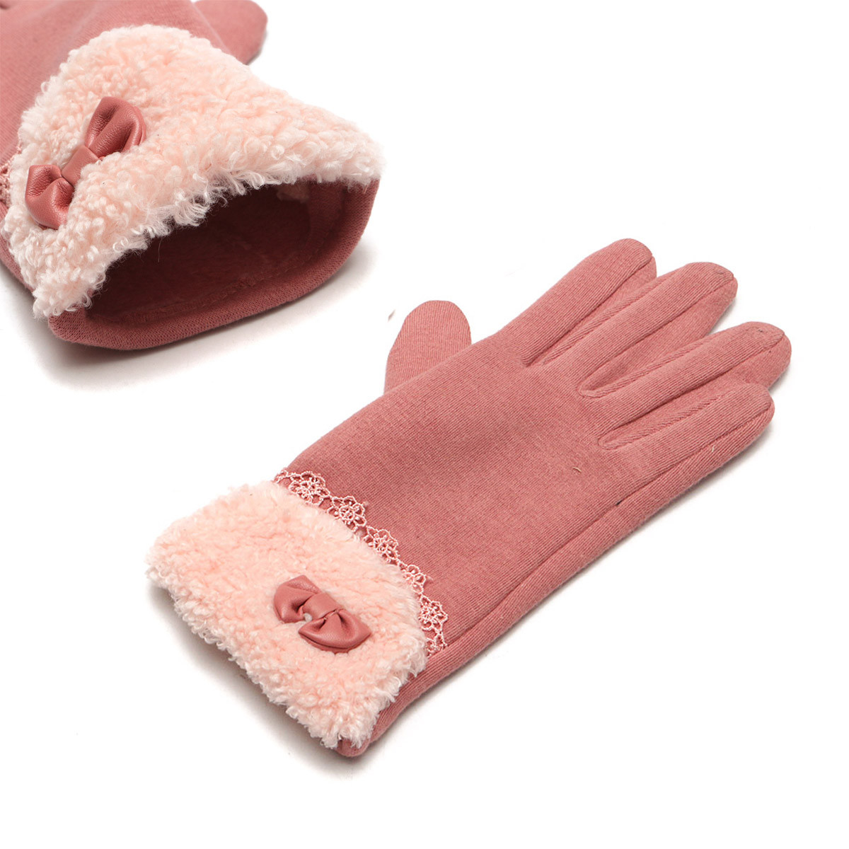 Women Winter Gloves Touch Screen Warm Gloves Outdoor Driving Gloves For Smartphone