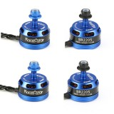 4X Racerstar Racing Edition 2205 BR2205 2600KV 2-4S Brushless Motor Dark Blue For 210 X220 250 280