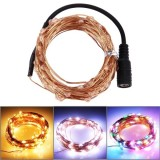 3 x 10m 1800LM Life Waterproof LED Copper Wire String Light Festival Lights with Remote Controller, AC 100-240V, US Plug (Warm White Light / White Light / Colorful Light)