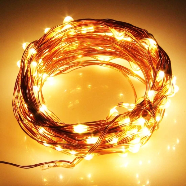 10m 600LM Life Waterproof LED Copper Wire String Light Festival Lamp / Decoration Light Strip ...