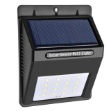 5.5V 0.55W 16 LED SMD 2835 White Light Life Waterproof Solar Motion Sensor Wall Light with Solar Panel & PIR Sensor & CDS Night Sensor