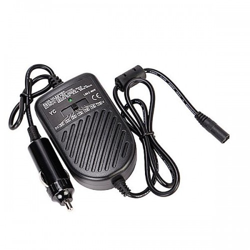 Auto Car 15V-24V Max 80W Laptop Notebook Charger DC Power Supply Adapter+8 Tips