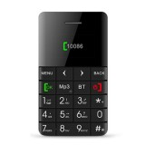 AEKU Qmart Q5 Card Mobile Phone, Network: 2G, 5.5mm Ultra Thin Pocket Mini Slim Card Phone, 0.96 inch, QWERTY Keyboard, BT, Pedometer, Remote Notifier, MP3 Music, Remote Capture (Black)
