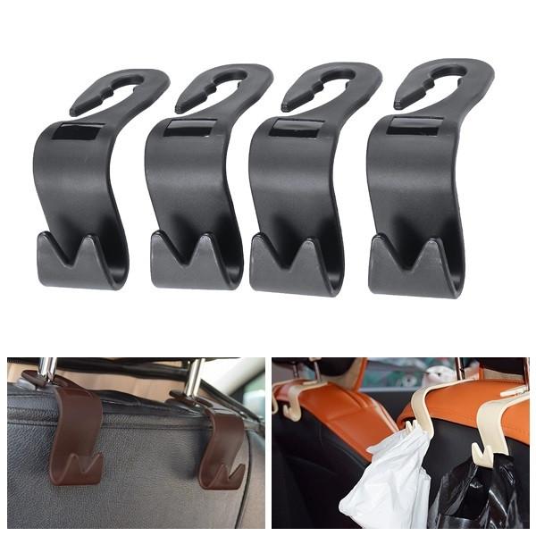 4pcs car seat back hook headrest storage hanger bag holder organizer universal alex nld. Black Bedroom Furniture Sets. Home Design Ideas