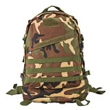 INDEPMAN DL-B001 Fashion Camouflage Style Men Oxford Cloth Backpack Shoulders Bag 40L Outdoors Hiking Camping Travelling Bag 3D Tactical Package with Expanded MOLLE & Magic Sticker & Adjustable Shoulder Strap, Size: 51 x 42 x 22 cm (Woodland Camouflage)