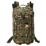 INDEPMAN DL-B002A Fashion Camouflage Style Men Oxford Cloth Backpack Shoulders Bag 25L Outdoors Hiking Camping Travelling Bag 3P Tactical Package with Expanded MOLLE & IND Shoulder Pad & Adjustable Shoulder Strap, Size: 43 x 26 x 23 cm (Digital Jungle)