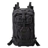 INDEPMAN DL-B002A Fashion Camouflage Style Men Oxford Cloth Backpack Shoulders Bag 25L Outdoors Hiking Camping Travelling Bag 3P Tactical Package with Expanded MOLLE & IND Shoulder Pad & Adjustable Shoulder Strap, Size: 43 x 26 x 23 cm (Black)