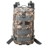 INDEPMAN DL-B002A Fashion Camouflage Style Men Oxford Cloth Backpack Shoulders Bag 25L Outdoors Hiking Camping Travelling Bag 3P Tactical Package with Expanded MOLLE & IND Shoulder Pad & Adjustable Shoulder Strap, Size: 43 x 26 x 23 cm (ACU Digital)