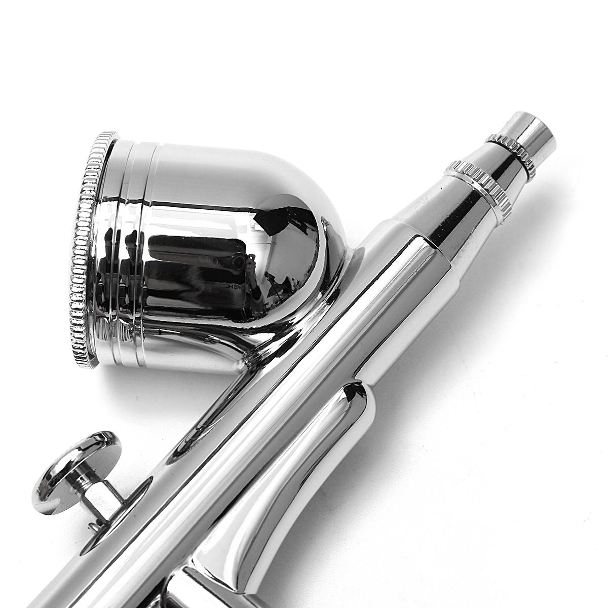 T130K Dual-Action Airbrush 0.2/0.5mm 7CC Gravity Feed Air Brush Spray Gun Paint Kit