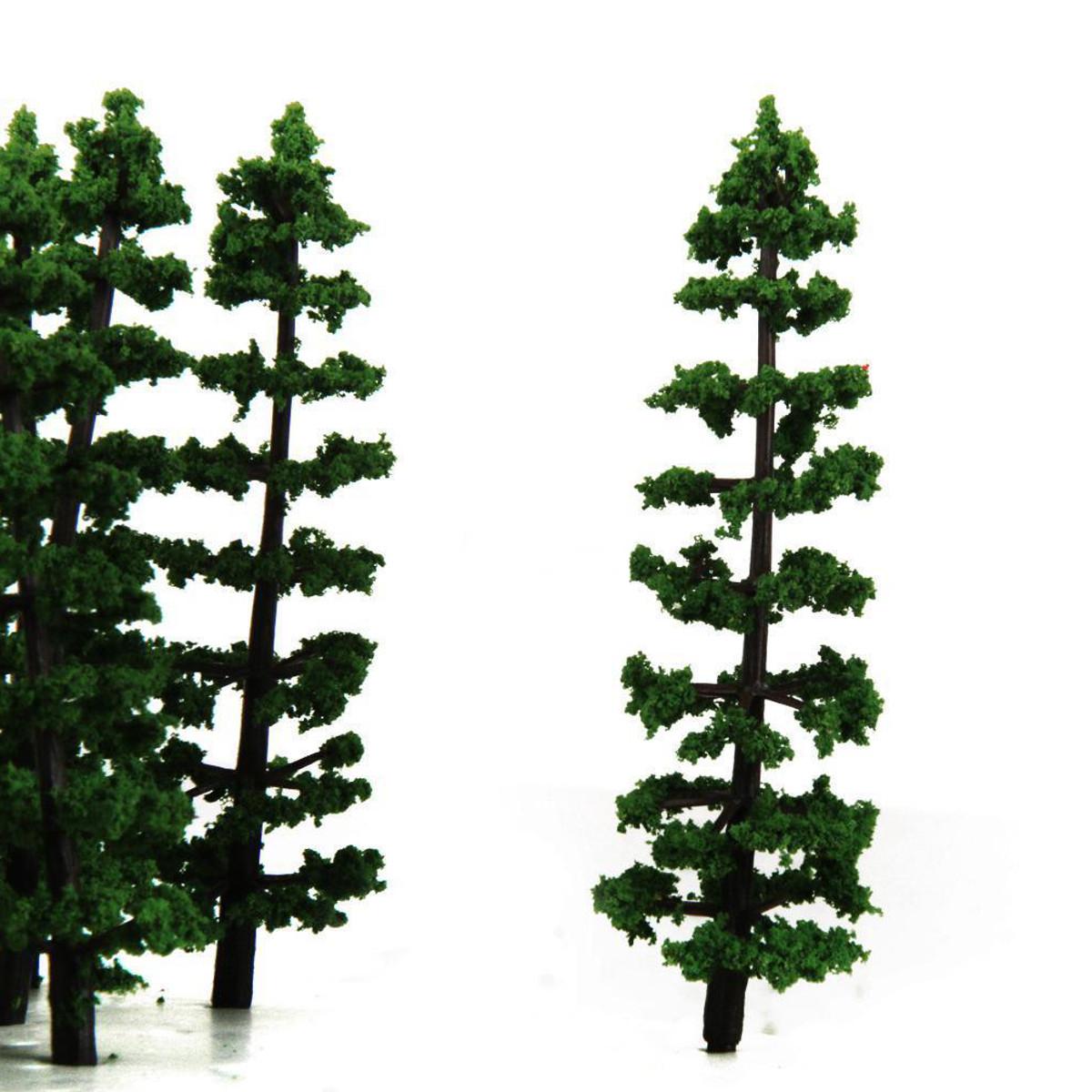 20pcs 1:100 Fir Trees Model Train Road Green Street Park Garden ...