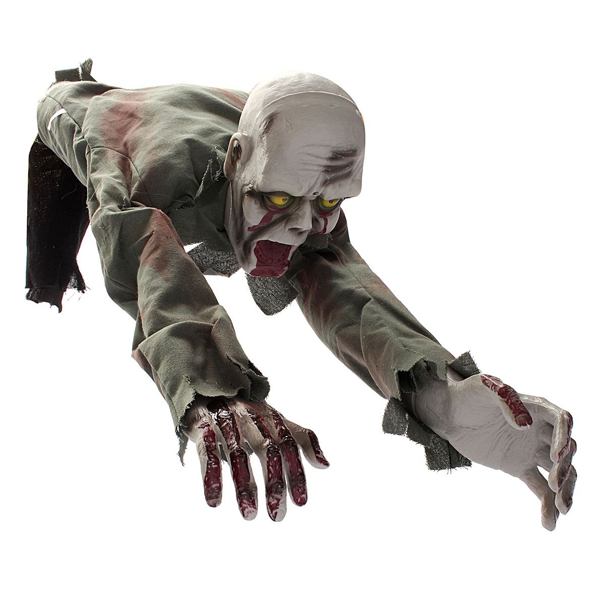 Moving Halloween Decorations: Crawling Zombie Scary Horror Bloody Haunted Animated Prop