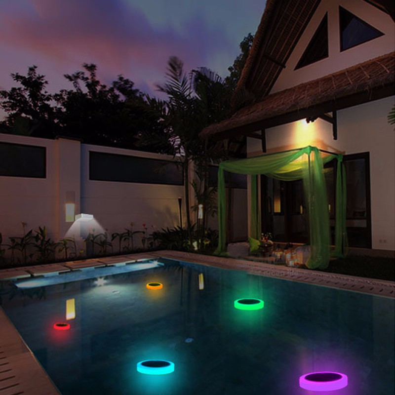 Solar Power Rgb Underwater Led Garden Pond Swimming Pool Floating Light Alex Nld